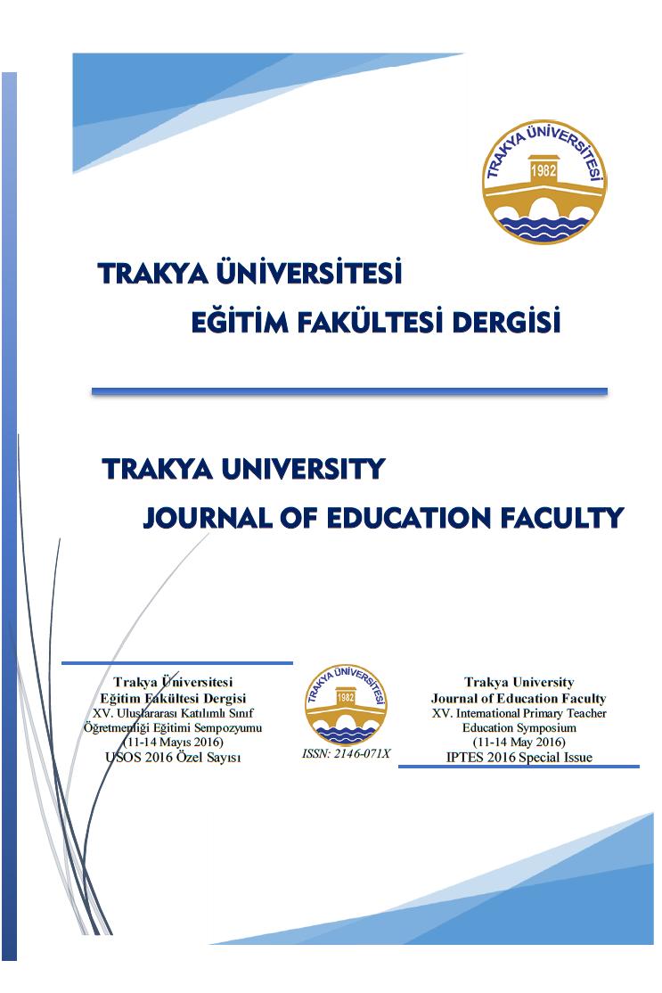 Trakya Üniversitesi Eğitim Fakültesi Dergisi