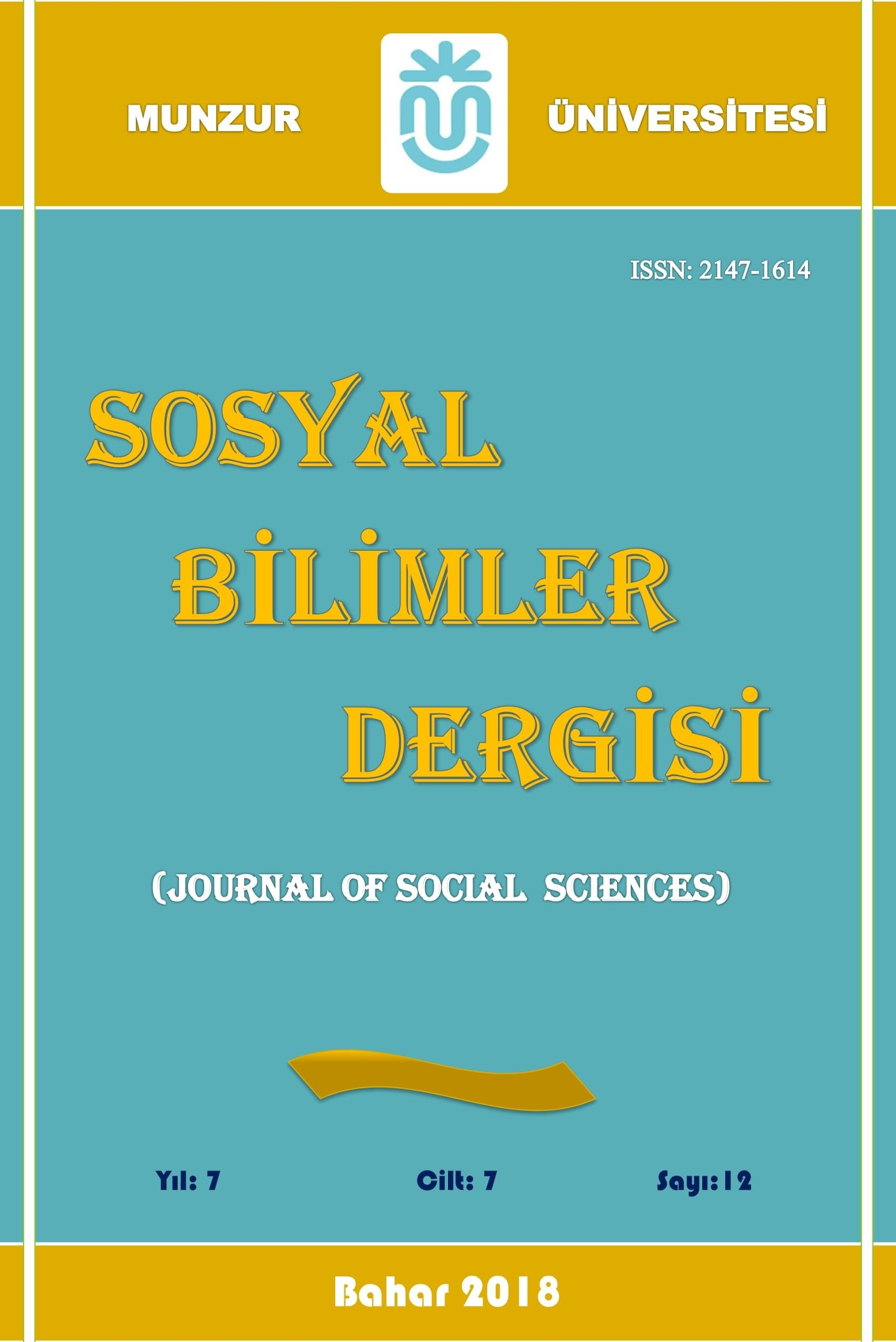 Munzur Üniversitesi Sosyal Bilimler Dergisi