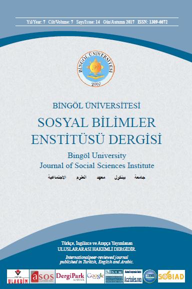Bingöl Üniversitesi Sosyal Bilimler Enstitüsü Dergisi