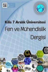 Kilis 7 Aralık Üniversitesi Fen ve Mühendislik Dergisi
