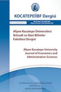 Afyon Kocatepe University Journal of Economics and Administrative Sciences