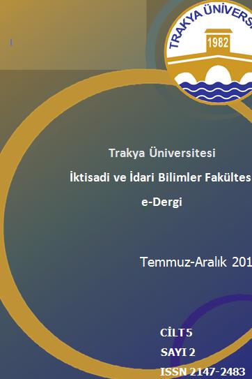 Trakya Üniversitesi İktisadi ve İdari Bilimler Fakültesi Dergisi
